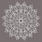 Ornamento circular del vector Mandala redonda del modelo Fotografía de archivo