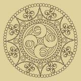 Ornamento circular del vector Mandala redonda del modelo Imagenes de archivo