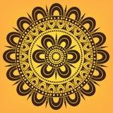 Ornamento circular floral Imagenes de archivo