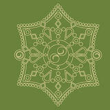 Ornamento circular Mandala redonda del modelo Foto de archivo