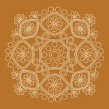 Ornamento circular Mandala redonda del modelo Foto de archivo libre de regalías