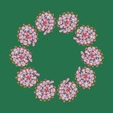 ornamento circular no estilo da garatuja Foto de Stock