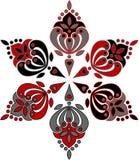 Ornamento circular a partir de seis elementos. Imagen de archivo