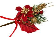 Ornamento clásico de la Navidad fotografía de archivo