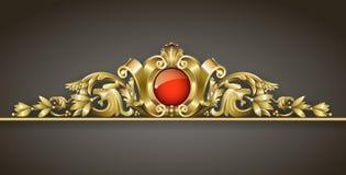 Ornamento clássico do ouro ilustração do vetor