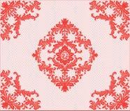 Ornamento classico del damasco del pizzo Fotografia Stock