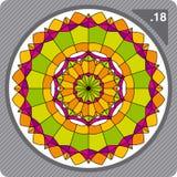Ornamento colorido abstracto. Vector. Imagenes de archivo