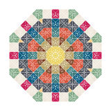 Ornamento colorido circular, textura dos retalhos mandala Fotos de Stock Royalty Free