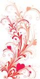 Ornamento com coração-formas Imagens de Stock Royalty Free