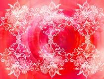 Ornamento com flores ilustração stock