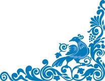 Ornamento com pássaro Imagem de Stock Royalty Free