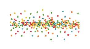 Ornamento comestible multicolor hermoso brillante para cocer imágenes de archivo libres de regalías