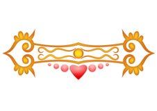 Ornamento con el corazón Imágenes de archivo libres de regalías