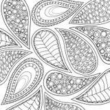 Ornamento con gli elementi del a mano disegno dell'inchiostro Immagine Stock