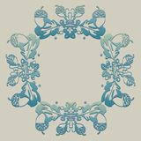Ornamento con la bellota, naturaleza, marco Imagen de archivo libre de regalías