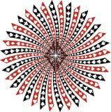 Ornamento con las habitaciones de la tarjeta Imagen de archivo libre de regalías