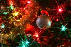 Ornamento con las luces Foto de archivo libre de regalías
