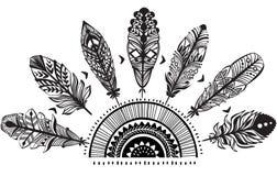 Ornamento con las plumas Foto de archivo