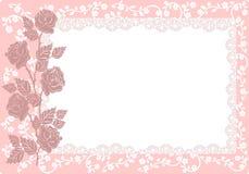 Ornamento con las rosas (vector) Foto de archivo libre de regalías