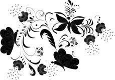 Ornamento con le grandi farfalle illustrazione vettoriale