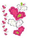 Ornamento con los corazones rosados Fotografía de archivo libre de regalías