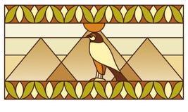 Ornamento con símbolos egipcios Imagenes de archivo