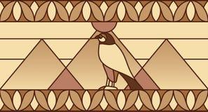 Ornamento con símbolos egipcios Fotos de archivo