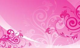 Ornamento cor-de-rosa do projeto do amor da flor fotos de stock