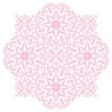 Ornamento cor-de-rosa do vetor dos pontos ilustração do vetor