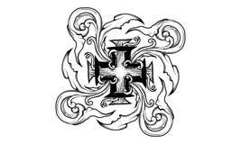 Ornamento cruzado legendario libre illustration