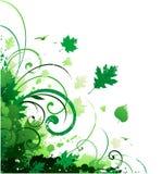 Ornamento d'angolo floreale illustrazione di stock