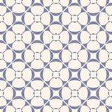 Ornamento d'annata geometrico di vettore Modello senza cuciture, serenità blu e beige Immagini Stock