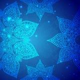 Ornamento d'annata indiano blu Illustrazione di vettore per la vostra presentazione di affari Immagini Stock Libere da Diritti