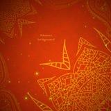 Ornamento d'annata indiano rosso Illustrazione di vettore per la vostra presentazione di affari Fotografia Stock