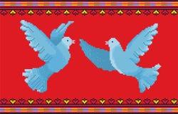 Ornamento D de la paloma Fotos de archivo libres de regalías