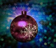 Ornamento da árvore de Natal Bokeh ilustração do vetor