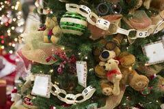 Ornamento da árvore de Natal com Teddy Bears imagem de stock royalty free