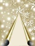 Ornamento da árvore de Natal das estrelas Fotografia de Stock Royalty Free