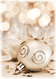 Ornamento da árvore de Natal, decoração do bauble Imagem de Stock