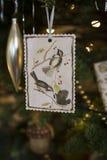 Ornamento da árvore de Natal do papel feito a mão Foto de Stock Royalty Free