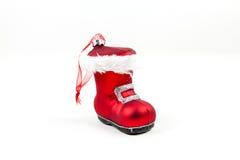 Ornamento da bota de Santa Fotos de Stock Royalty Free