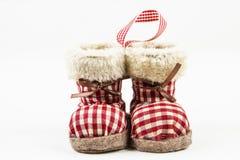 Ornamento da bota do inverno Imagens de Stock