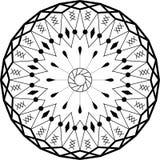 Ornamento da circular da mandala do esboço Teste padrão intricado Imagem de Stock Royalty Free