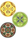 Ornamento da cor do estilo do russo ilustração royalty free