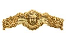Ornamento da coroa do querubim do ouro Imagem de Stock Royalty Free