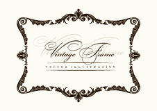 Ornamento da decoração do frame do vintage do vetor Fotografia de Stock
