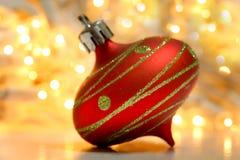 Ornamento da decoração do Natal imagens de stock