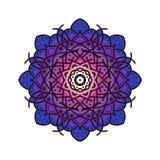 Ornamento da decoração do vetor da mandala com esboço Imagens de Stock Royalty Free