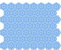 Ornamento da estrela azul Imagem de Stock Royalty Free