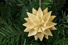 Ornamento da estrela da palha Fotos de Stock Royalty Free